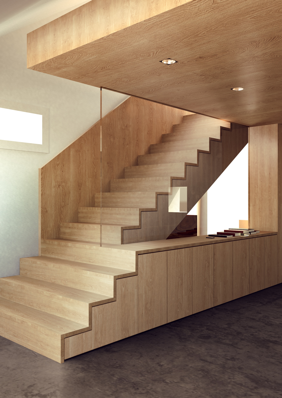 Architekturvisualisierung eines Treppenhauses