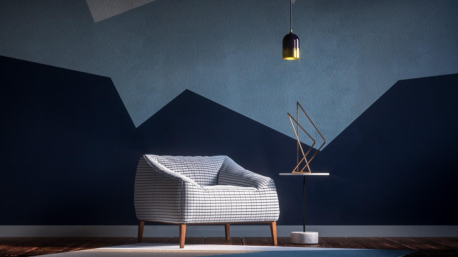 Architekturvisualisierung eines Wohnzimmers